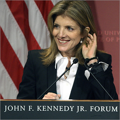 Caroline Kennedy The only surviving child of John F. and Jacqueline Kennedy lived in Somerville while a student at Radcliffe at Harvard. She graduated in 1979. Kennedy considered becoming a photojournalist and interned at the New York Daily News in 1977.