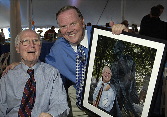 In September 2008, White was photographed with Bill Brett at a book launching party and auction at Fan Pier of 'Boston A Year in the Life'. Brett had donated a photo of former mayor and his statue to be auctioned off.