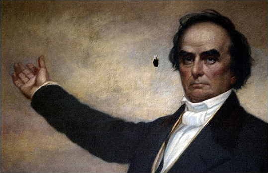 Daniel Webster The antebellum statesman, senator, and shellfish devotee lived on Beacon Hill. Webster had a stronger diplomatic record than a legislative record.