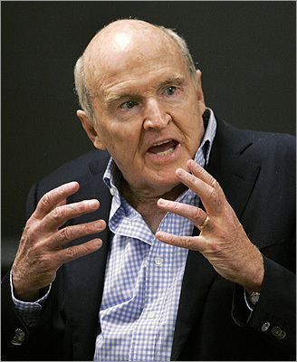 Jack Welch The corporate icon has lived in the historic Nathan Appleton House on Beacon Street that once was the headquarters for the Women's City Club of Boston. He was born in Peabody and grew up in Salem. Welch, known also as 'Neutron Jack' for his willingness to cut jobs, is the former chairman and CEO of General Electric Co. He's credited for the company's rise to prominence. Welch recently appeared as himself on the NBC show '30 Rock,'' slapping Alec Baldwin's CEO character (also in charge of General Electric) for showing emotion.