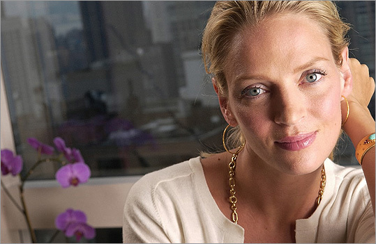 Uma Thurman The actress known for movies such as 'Pulp Fiction' and 'Kill Bill' was born in Boston but grew up mostly in Amherst, where her father was a university professor.