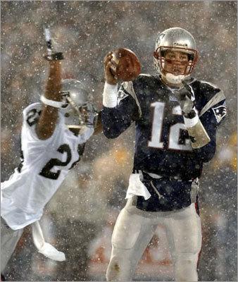 """Yeah, I was throwing the ball,' Brady said."