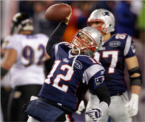 Tom Brady spiked the ball after finding the end zone on a quarterback sneak in the fourth quarter.