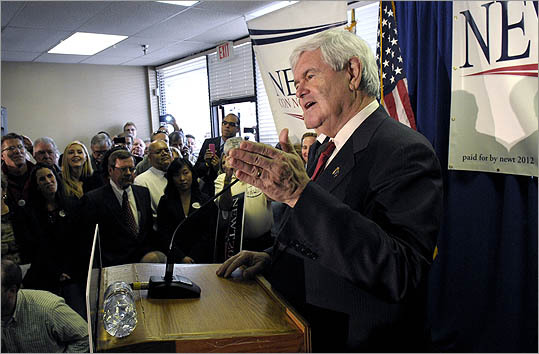 Newt Gingrich spoke to supporters during the opening of his Florida campaign headquarters in Orlando, Fla., on Jan. 13.