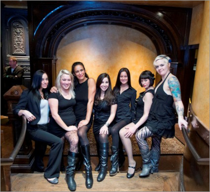 The wait staff and hostesses (left to right): Kookie Capuano, Alyssa Occhialini, Sarah Jones, Brittni Cunha, Meghan Sorrentino, Samantha Edelheit, and Meghan Dahl.