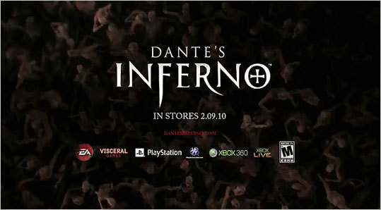 Dante's Inferno - 'Go to Hell' This ad for the video game 'Dante's Inferno' eventually aired during the 2010 Super Bowl, but only after the tag line was changed. Electronic Arts had to replace the tagline 'Go to Hell' with the less offensive 'Hell awaits' after CBS refused to air the ad .