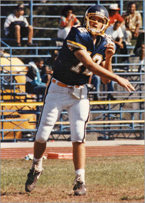 Tom Brady School: Junipero Serra High School, San Mateo, Calif. Tom Brady was a three-sport star in high school, playing football, basketball and baseball. He was actually drafted by the Montreal Expos in the 18th round of 1995 MLB draft as a catcher. He joined Barry Bonds and Lynn Swann in Junipero Serra's hall of fame in 2003.