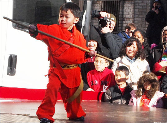 This small student from Boston Shaolin Kung Fu Center had the focus and precision of a much older athlete.