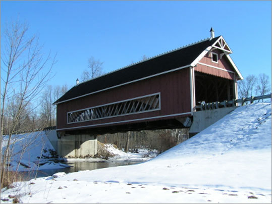 The Longest Covered Bridge in the United States, Ashtabula, Ohio The Smolen-Gulf Bridge on State Road that spans the Ashtabula River is the longest in the country at 613 feet. Whether you're a bridge enthusiast or not, that's pretty cool.