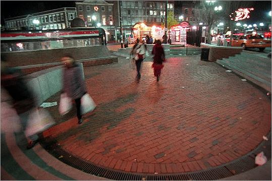 Two go into The Pit, One emerges #HowCambridgeShouldPickAMayor — Ratty (@HeyRatty) January 26, 2012 The 'pit' behind the MBTA Harvard Square station is pictured. (Or perhaps a potential mini Roman-style coliseum?)
