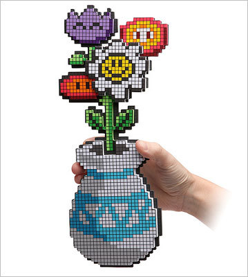 8-bit flower bouquet Price: $9.99 These pixelated flowers show you care more about him or her than the original Super Mario Brothers -- which says a lot.