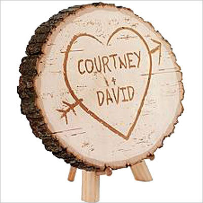 Carved heart basswood plaque Price: $29.99 Don't want to go through the trouble of carving your name on a tree yourself? Check out this laser cut inside a simple heart.