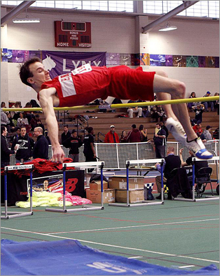 """This season he exploded,"" said Dawn Diedricksen, the Hingham boys' high-jump coach. ""It's rare in high jump for an athlete to improve this much in one season."" He jumped 6 feet 7 inches, adding several inches to his best from last year and setting a school record for the indoor jump. McDowell's best jump at the Elite Meet was 6 feet 2 inches."