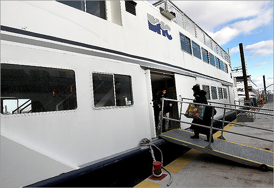Weeks after the MBTA outlined two proposals to reduce the budget deficit, reduce services, and increase rates, South Shore residents and local politicians protested the change to the ferry. Some created the website 'Save the MBTA Ferry.'