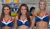 Pats cheerleaders in Indy