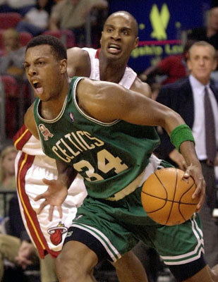 2001-02: 2,144 points The Celtics broke through in a big way in 2001-2002, making a surprise run to the Eastern Conference Finals. Pierce played in all 82 games for the second consecutive season, and his point total was a career-high for a season.