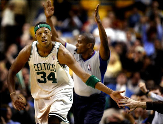 2003-04: 1,836 points The Celtics were rebuilding in Kendrick Perkins' rookie season. The team also drafted point guard Marcus Banks. Pierce had a career high of 303 turnovers.