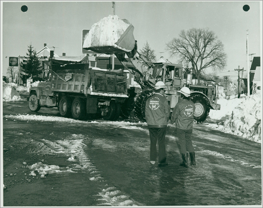 President Carter declared portions of coastal Massachusetts a federal disaster area. The wind gusts peaked at 79 miles per hour, creating snow drifs up to 15 feeet high. The National Guard assisted the Office of Chief Engineers and local public works departments in cleaning up and clearing snow before rebuilding could begin.