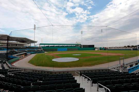It's a whole new ballpark The new Red Sox spring training facility, JetBlue Park in Fort Myers, Fla., has dimensions that are nearly identical to Fenway Park, including a 37-foot replica of Fenway's famed left field wall.