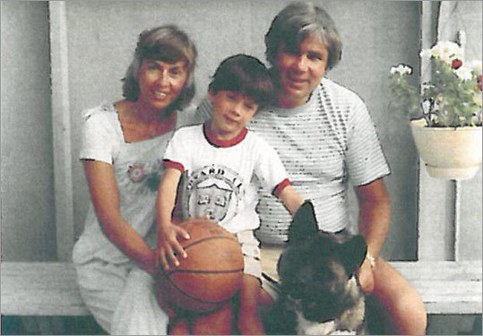 Kathy and Joe O&#146;Donnell with their son, Joey, and his dog, Panda. Joe O&#146;Donnell&#146;s fund-raising efforts helped Vertex Pharmaceuticals gain FDA approval for Kalydeco, a drug that will improve the lives of 1,200 cystic &#64257;brosis patients.