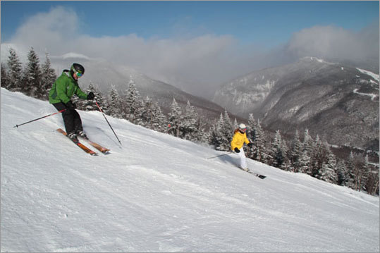 Ten by 10 - Stowe has the most generous lift hours around; the Front Runner Quad opens at 7:30 a.m. on weekends, 8 a.m. weekdays, so you can ski ten runs by 10 a.m. if that's your gig. The gondola opens at 8:30 a.m. daily.