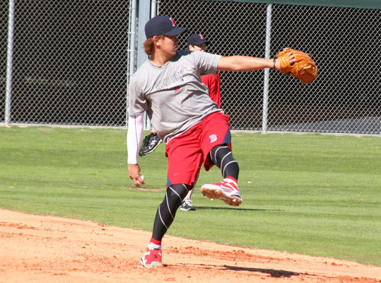 Red Sox starter Daisuke Matsuzaka underwent Tommy John surgery last season, and the team hopes to have him back sometime in the middle of 2012. Dice-K is throwing off a mound in Fort Myers, but he does not appear close to pitching in the majors for now.