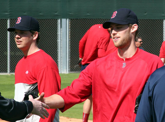 Daniel Bard (right) will be counted on to be the team's fourth starter in a role that he is unfamiliar with in the majors.