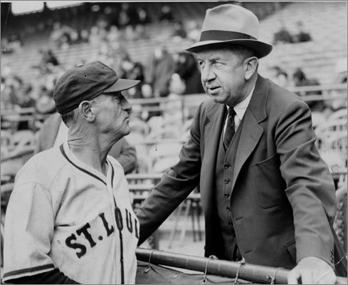 Eddie Collins: The first GM in the history of the Red Sox, Collins (right) was one of two ex-Columbia players inducted into the Hall of Fame in 1939 - Gehrig was the other. A career .333 hitter and rampant base thief in his 25 seasons, Collins played on four World Series winners with Philadelphia and Chicago at second base. He emerged clean after 1919 Chicago Black Sox scandal. During his career as Red Sox GM, Collins (with the help of Tom Yawkey's pocketbook) dealt for Lefty Grove, Joe Cronin and Jimmie Foxx before singing Ted Williams and Bobby Doerr in 1936 He also kept the Red Sox 100 percent white. It took another Ivy League-educated GM to lead the Red Sox to a couple World Series titles in the 2000s