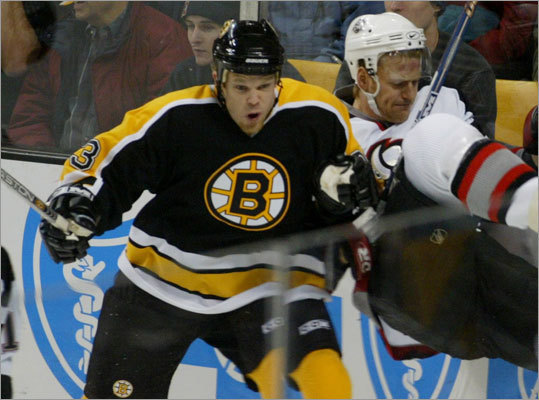 Craig MacDonald, who plays professional hockey in Germany, spent some time with the Bruins during his NHL career. He graduated from Harvard in 1999.