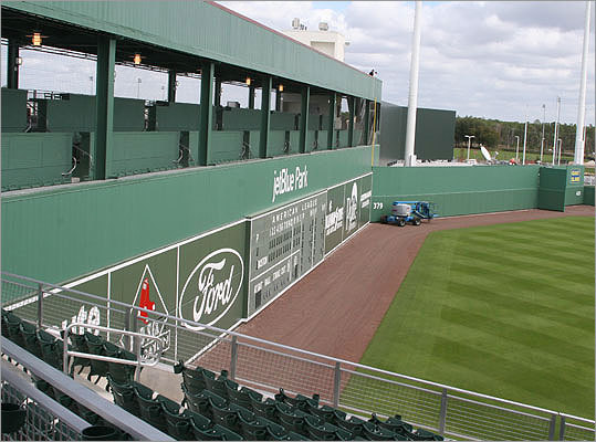 Look familiar? The scoreboard at JetBlue Park is almost an exact replica of the one at Fenway.