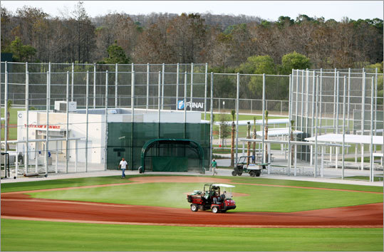 The facility includes numerous practice areas, including several ballfields adjacent to JetBlue Park.
