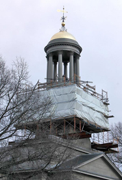 Quincy bell tower restoration nearly complete