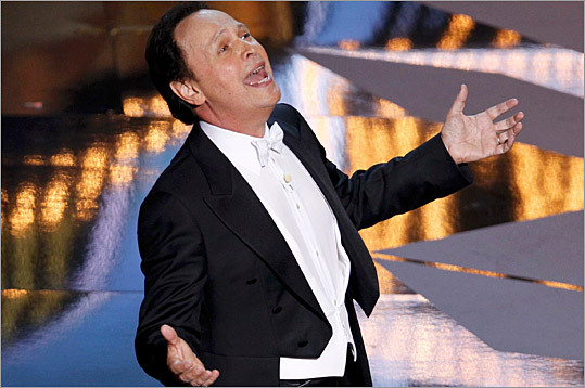 Host Billy Crystal sang at the beginning of the Academy Awards broadcast last night.