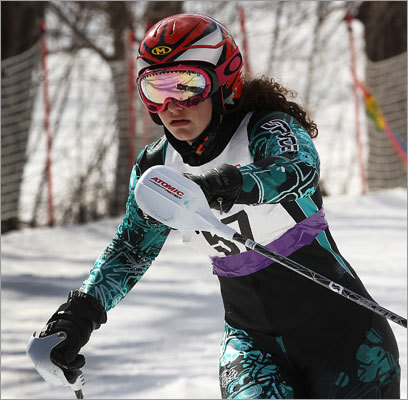 Andover's Nicole Ericson was on the run at the state alpine ski championship.