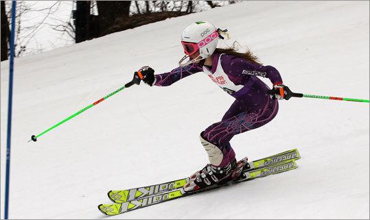 Andover's Julia Ganley at the state alpine ski championship.