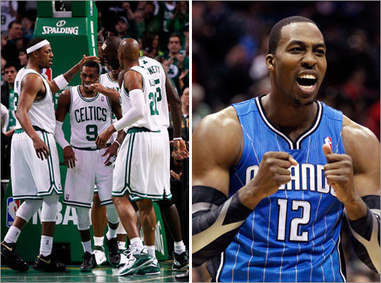 Option: Ride it out The Celtics could choose to keep Rondo, Allen, Pierce, and Garnett and enter the playoffs knowing that their chances aren't great. Garnett and Allen come off the books this summer, and that gives the Celtics a chance to sign free agents, including Dwight Howard (right), who is a pipe dream. Howard may be traded at the deadline as well, and he may choose to ink an extension with the team he goes to. If they keep the team intact, the Celtics will have some $31 million to give to free agents, provided there are any who want to play here.