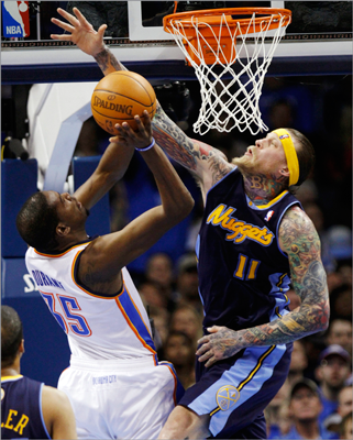 Chris Anderson, C 'The Birdman' would be a good fit for Boston's bench and wouldn't tear apart the team like other superstar big men might. The Nuggets's 6-10 center provides energy and blocks shots, but has never been a starter in the NBA. Anderson would only fill part of the void if the Celtics traded for him.