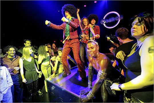 The Donkey Show If Lady Gaga has some free time in the evenings, she might want to consider visiting the theatrical night club OBERON. There, she can catch 'The Donkey Show,' a hybrid of dance disco and 'A Midsummer Night's Dream.'
