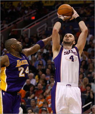 Marcin Gortat, C Many believe Gortat would be a perfect fit in Boston because he is a two-way player. Averaging 15.9 points per game and 10.4 rebounds for the struggling Suns, Gortat could be one of the most valuable players moved at this year's trade deadline. But it would probably take a handful of players for the Celtics to get him if they wanted to keep the Big Four intact. Gortat signed a five-year, $34 million contract in 2009.