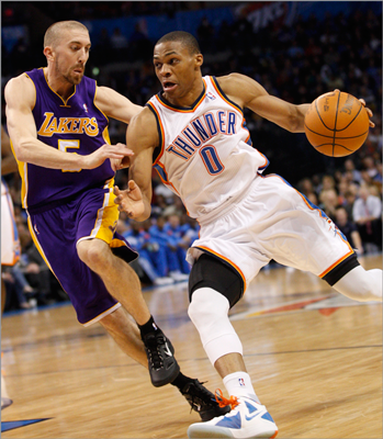 Russell Westbrook, PG Despite the Thunder owning one of the league's best records, Westbrook's name has been dropped in trade speculation in recent seasons if only because there might not be enough shots to satisfy both him and Kevin Durant on the same team. The All-Star from UCLA is averaging 23.5 points per game and 5.5 assists. The Thunder extended Westbrook on a five-year, $80 million contract in January, so it would take Rajon Rondo plus another player to bring Westbrook to Boston.