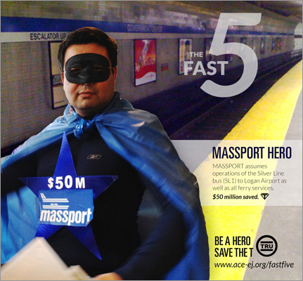 Massport Hero aims to hold Massport accountable for operations of the MBTA's silver line buses to Logan and ferry service. ACE claims this change in operation could save $50 million.