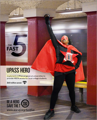 UPass hero fights for the implementation of a special T pass for Boston area college students. This move could save the MBTA over $60 million, said ACE.