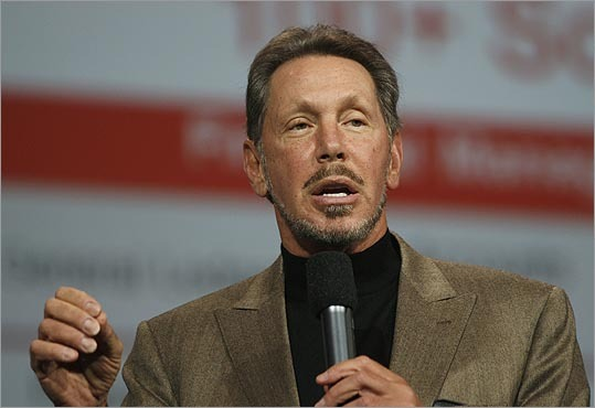 5. Larry Ellison Estimated net worth: $43 billion Ellison, 68, is chief executive of California-based Oracle Corp., the world's third-largest software maker after Microsoft and SAP AG. He was worth $36.1 billion in 2012 and is the third richest person in the United States. He moved up from the sixth spot last year. Forbes profile