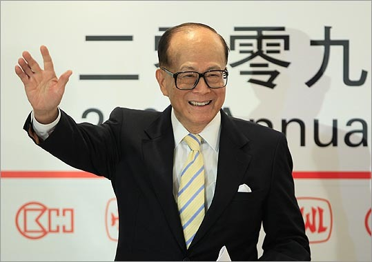 8. Li Ka-Shing Estimated net worth: $31 billion Hong Kong's richest man, Li Ka-shing, is nicknamed 'Superman' by the local media for his investing prowess. Li, 84, owns large stakes in Hong Kong-based property developer Cheung Kong Holdings Ltd., Hong Kong shipping and ports operator Hutchison Whampoa Ltd. and Husky Energy Inc., the Calgary-based energy company. He is up from 14th place last year, when he was worth a measly $22.3 billion. Forbes profile