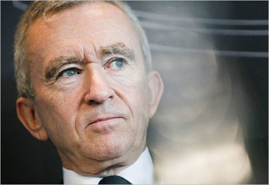 10. Bernard Arnault Estimated net worth: $29 billion Arnault is the chairman of LVMH Moet Hennessy Louis Vuitton SA. Forbes profile