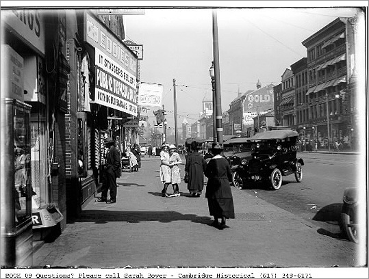 A subway line between Harvard Square and Park Street brought a station to Central Square in 1912. At first, business dipped in the square since more suburbanites took convenient trips into the city. But in the following decades, Central Square's economy boomed thanks to the subway. The square is pictured in 1921 in this photo from the Cambridge Historical Commission.
