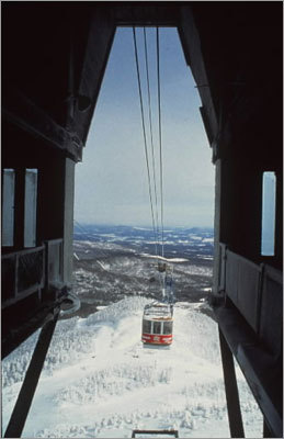 The Tramway, Jay Peak It can be a nuisance on windy days, but when it's running, Vermont's only tram lift is a wonder, shuttling 60 skiers and riders up the mountain each trip, and 360 per hour to the summit, where they can delight in any number of notable trails, and, of course, some of the finest tree skiing in the entire Northeast.