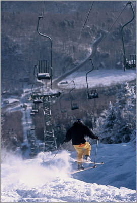 Single Chair, Mad River Glen It is an iconic symbol for not just New England skiing, but nationwide. The sight of it leaves no doubt which mountain it resides on, and though the original has been retired for a few years now, the Mad River Glen Single Chair remains Vermont's most beloved lift. It is an unconventional lift at a mountain with skiers who think the same way.