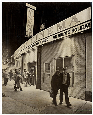 Central Square peaked in influence and prestige between 1920 and 1950, when several department stores, two movie theaters, and dozens of small retailers served a large and relatively prosperous population. Patrons are pictured leaving Central Square Cinema on its last night of operation in 1980.