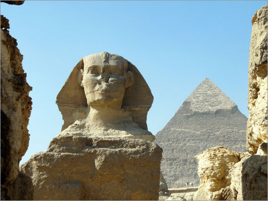 3. Pyramids of Giza, Egypt The ingenuity of humankind is on display in stunning fashion in Egypt, where these amazing structures have stood the tests of time.